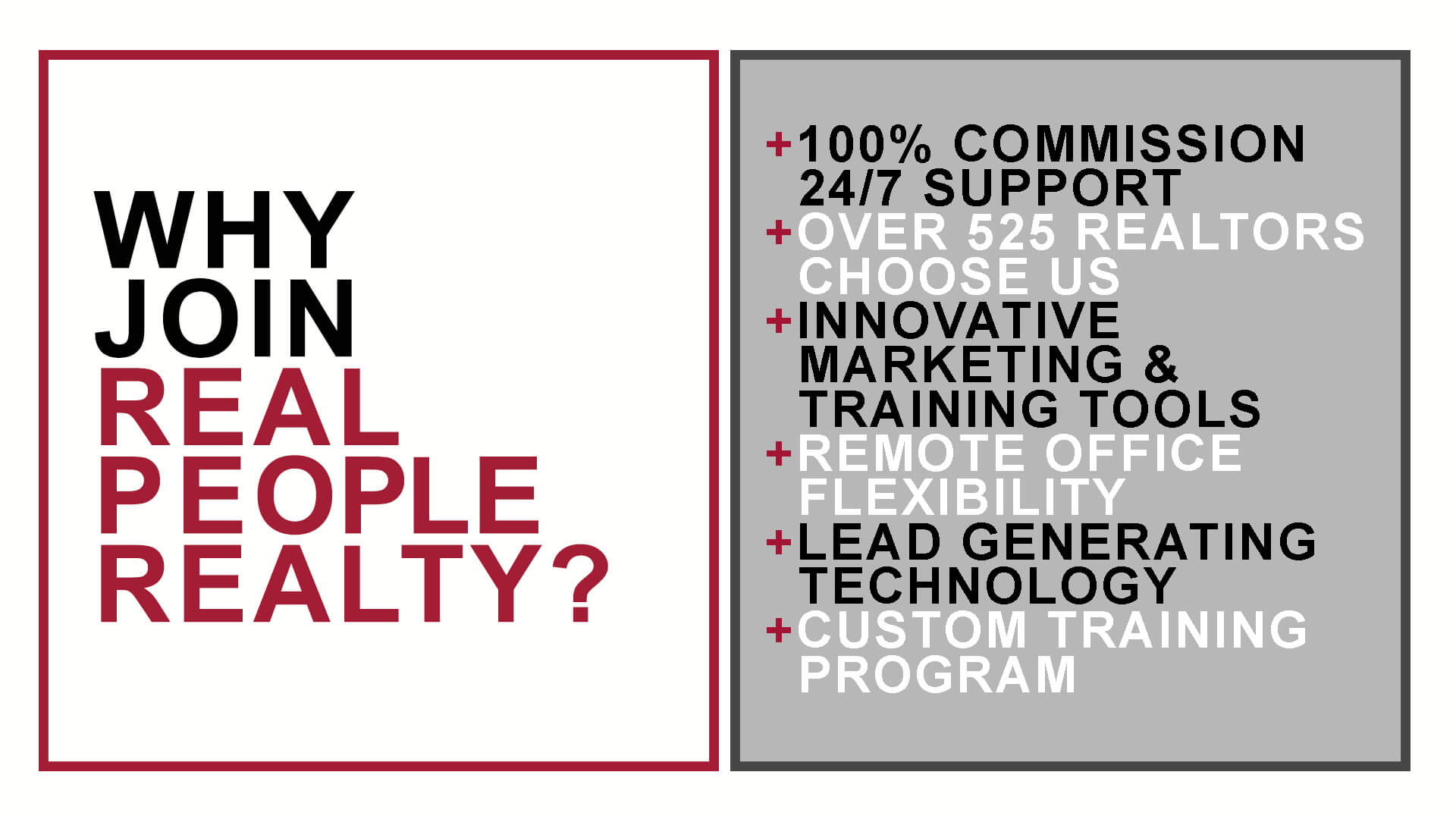 Why Join Real People Realty List 100% Commission